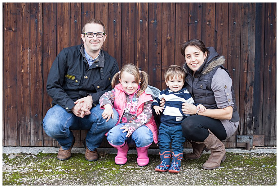 Family photo at Downham village Lancashire