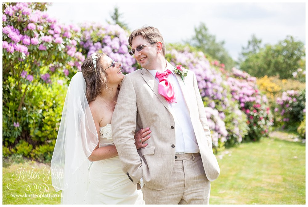 Bride and groom Cragwood Country House