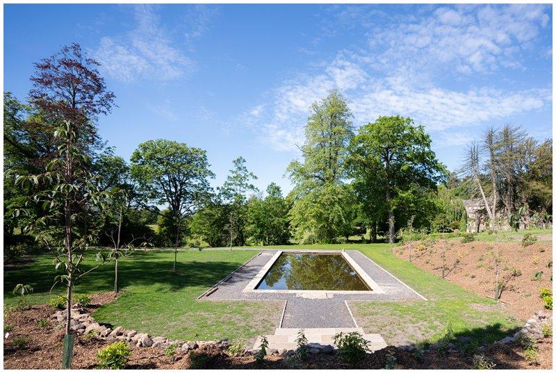 Lily pond at Browsholme hall