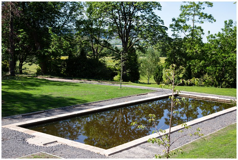 Browsholme Hall outdoor ceremony area