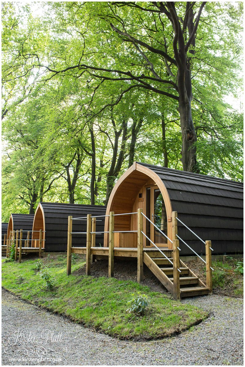 Glamping pods at the tithe barn