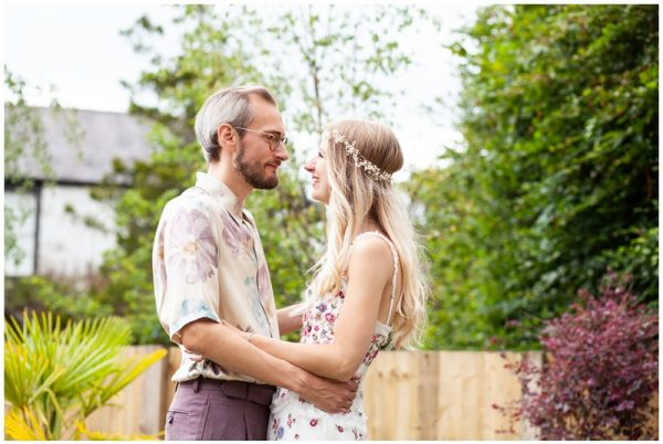 Romantic Garden Handfasting Ceremony