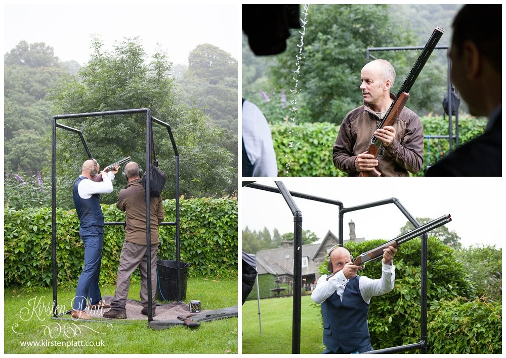 Clay pigeon shooting at Broadoaks Country House Hotel