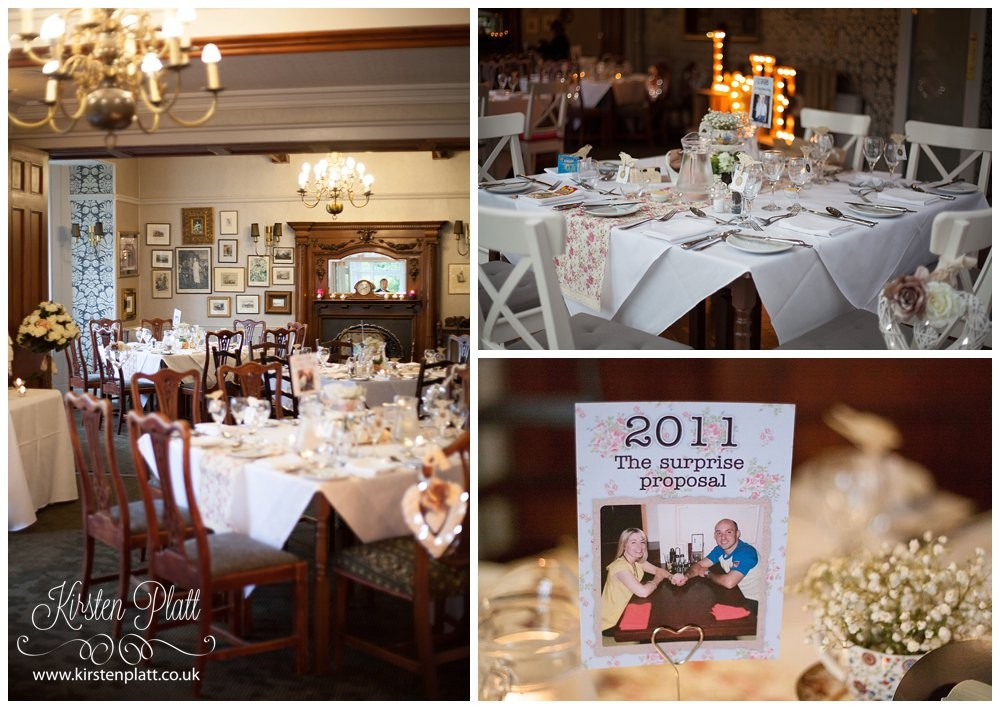Wedding breakfast at Broadoaks Country House Hotel