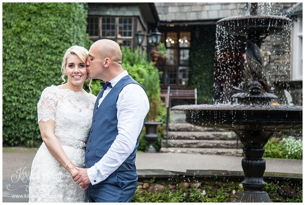 Broadoaks country house hotel bride and groom