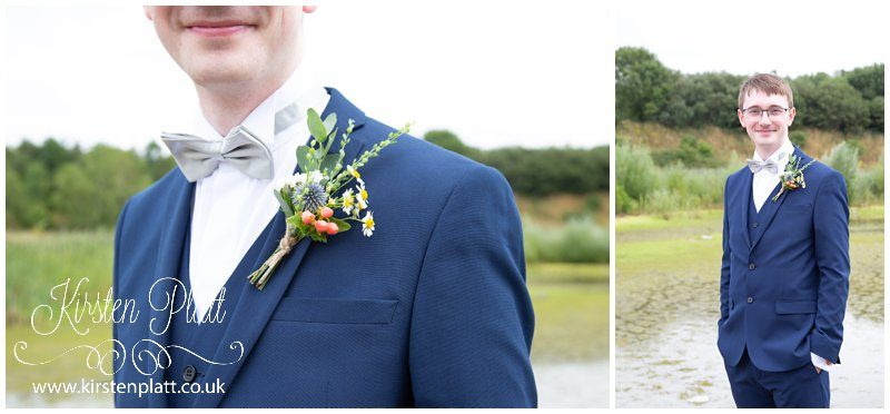 Groom and his buttonhole