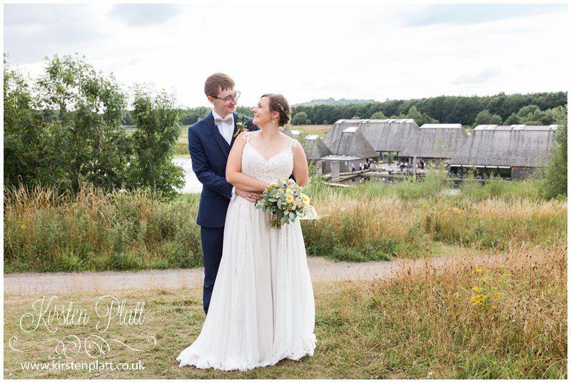 Bride and Groom at Brockholes Wedding Venue