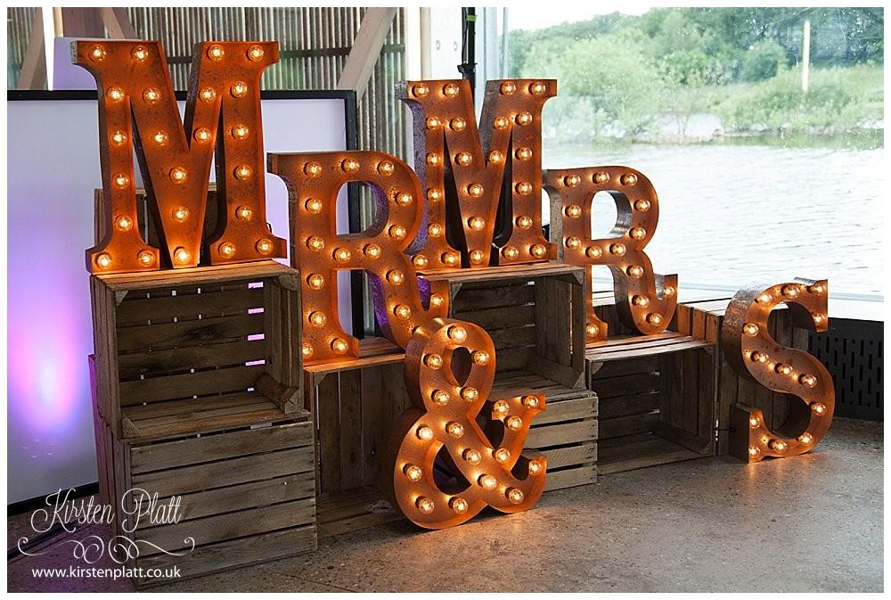 Mr & Mrs light up letters by Brides little helper