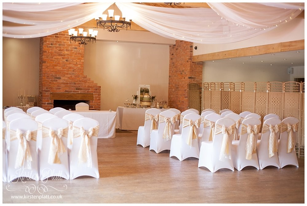 Charnock farm wedding ceremony seating