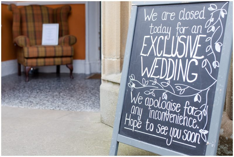 Exclusive wedding sign