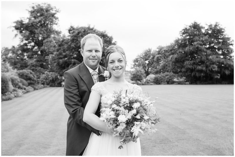 Black and white wedding photograph