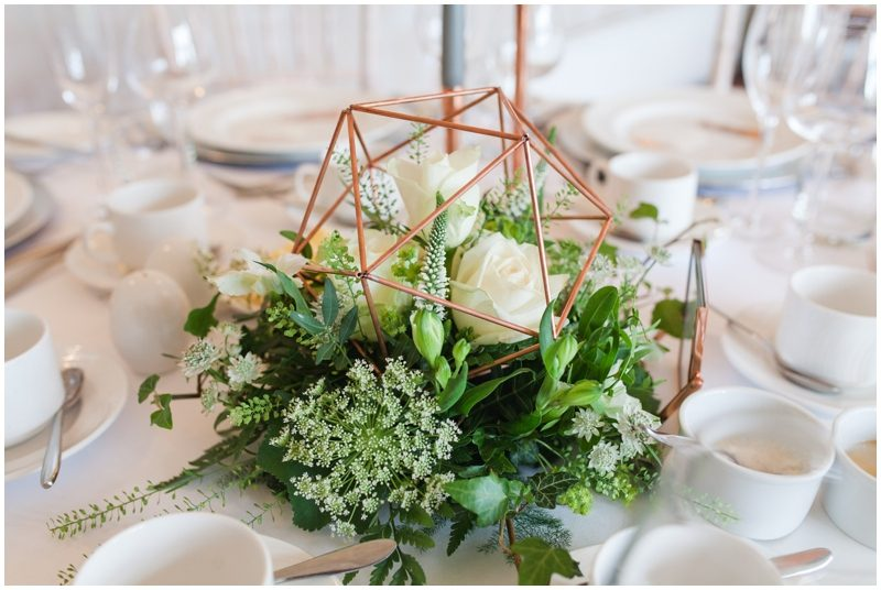 Copper table decorations