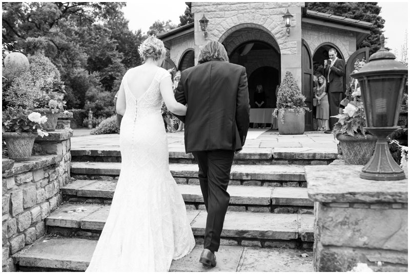 Back and White wedding photograph