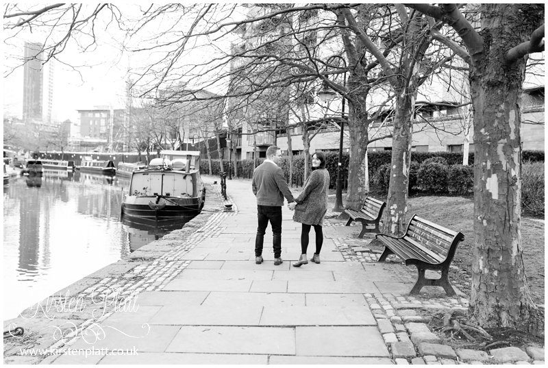 Castlefield canal pre wedding photoshoot