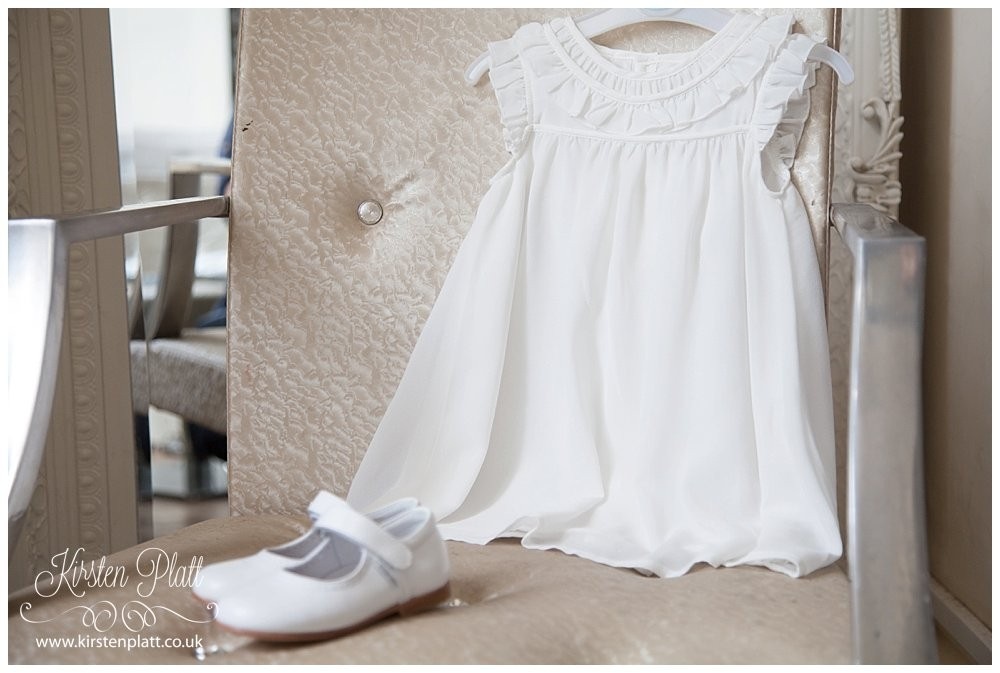 Pretty white dress and shoes