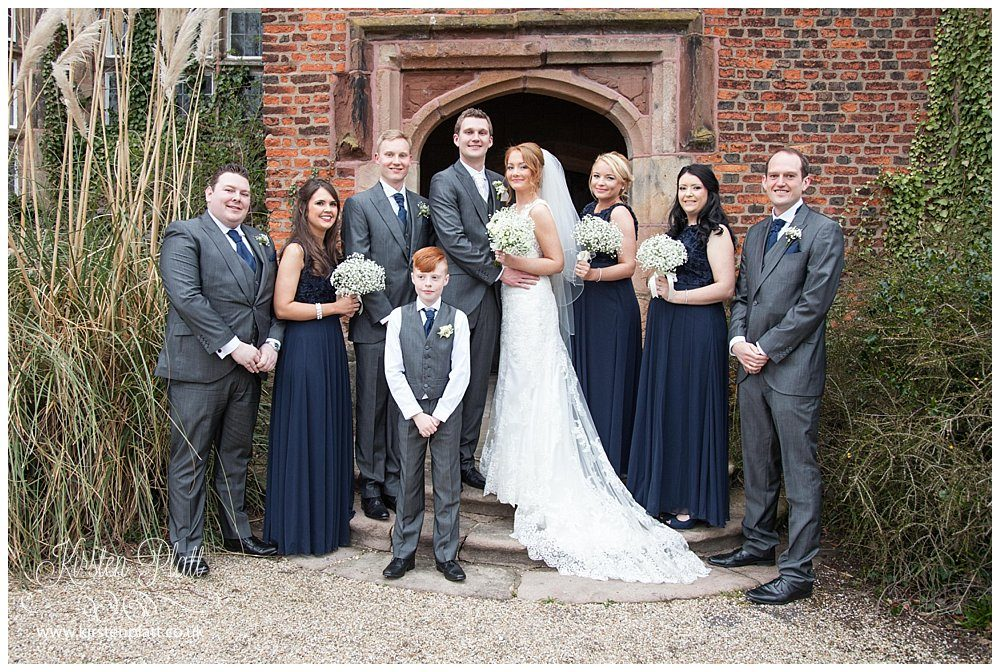 Bridal party at Heskin hall chorley
