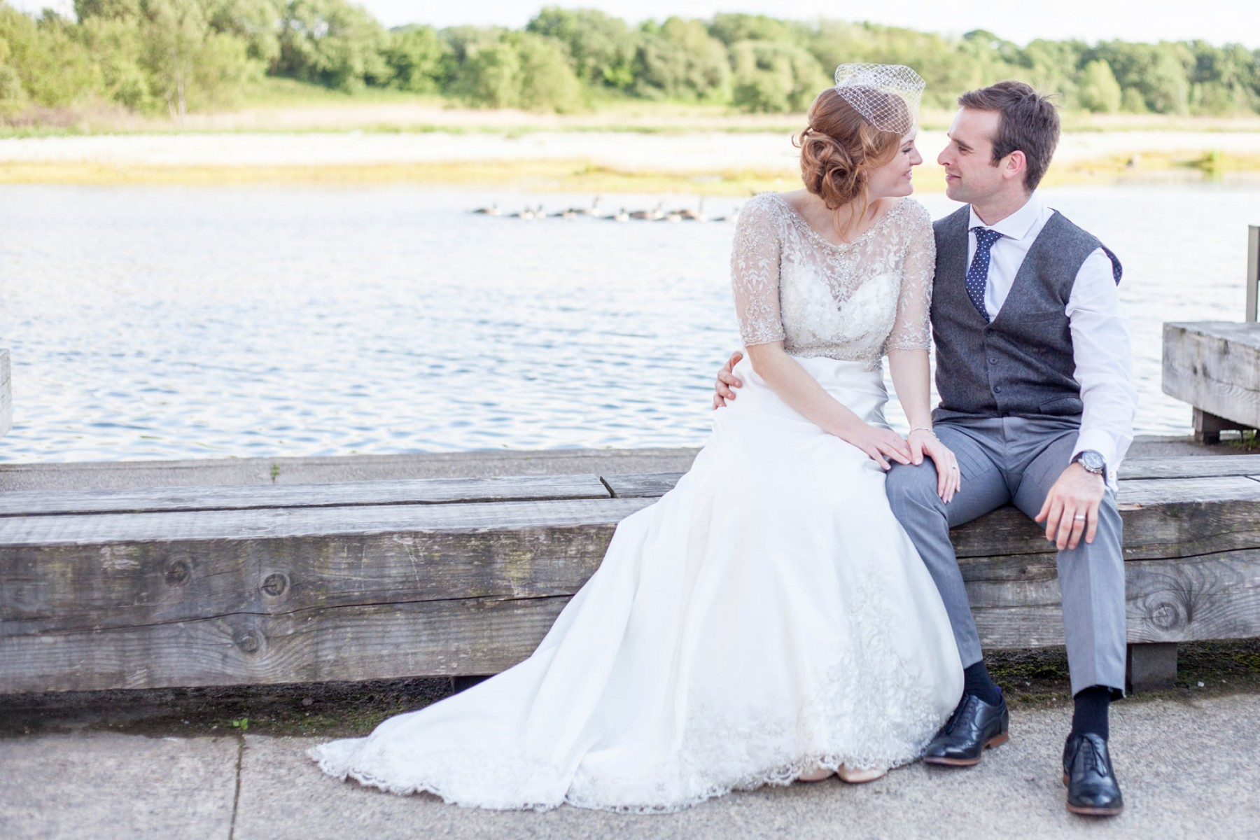 Lancashire wedding photographer Brockholes Nature Reserve wedding