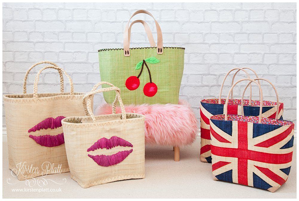 Lily's house straw tote bags