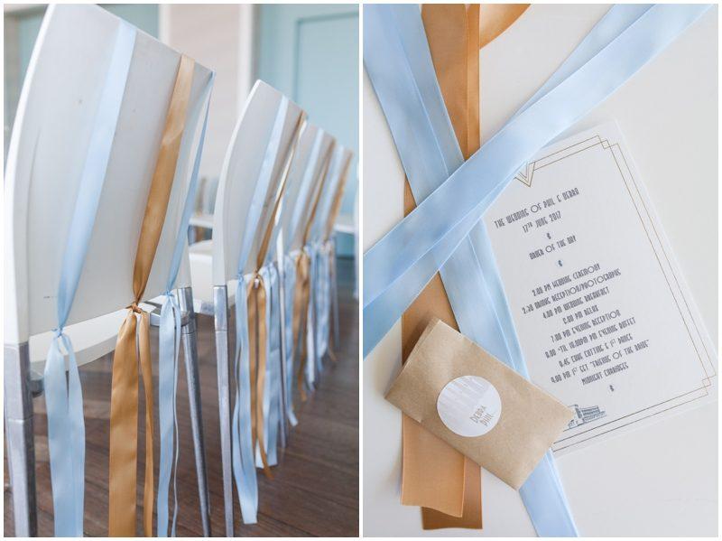 Art deco wedding itinerary