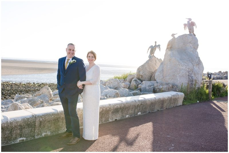 Morecambe Prom bride and groom
