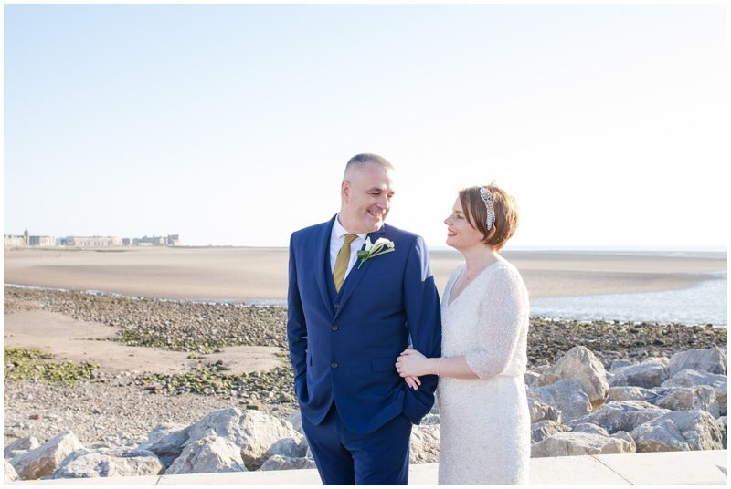 Morecambe bride and groom