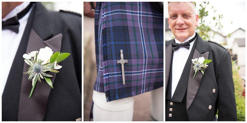 Grooms wedding details