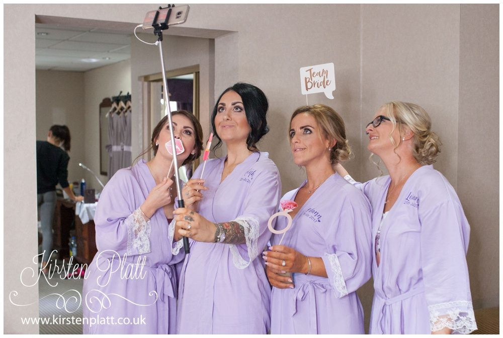 Bridesmaids taking a selfie