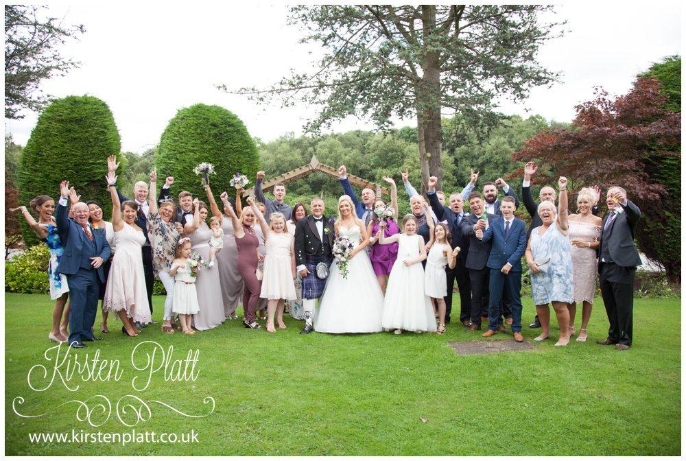 wedding crowd cheering