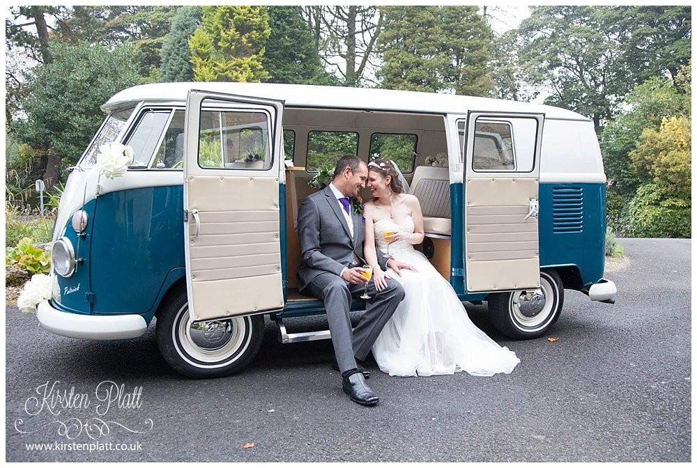 VW camper van by Bronte wedding Hire