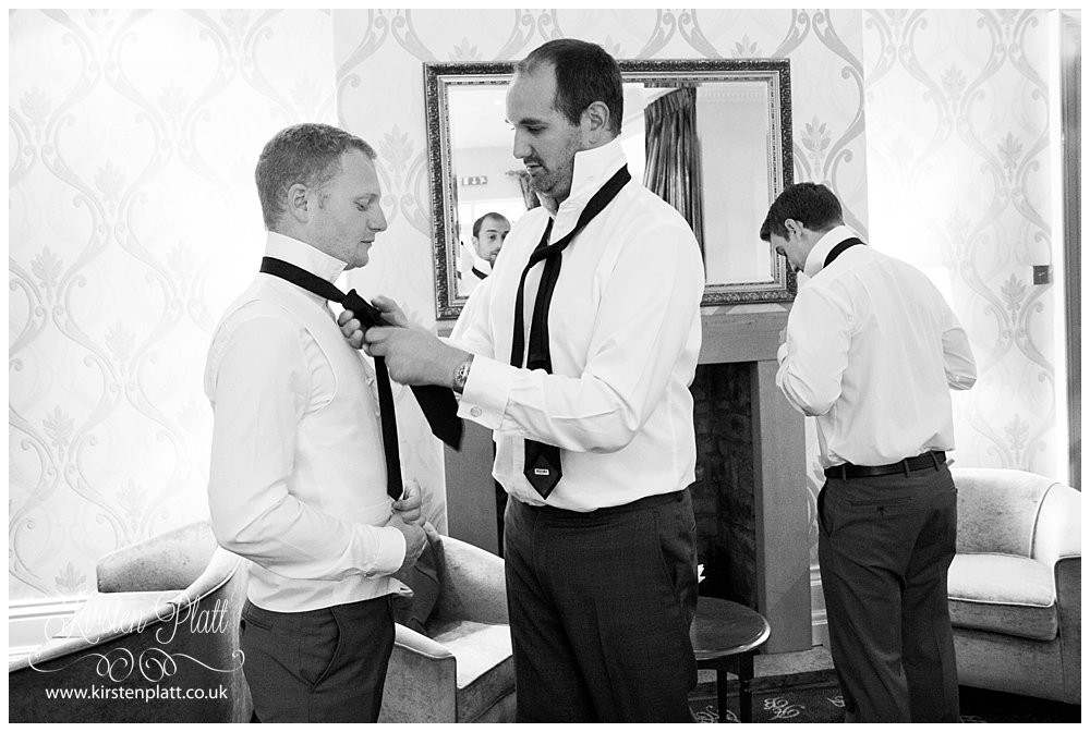 The groom and his best men get ready at Astely Bank Hotel