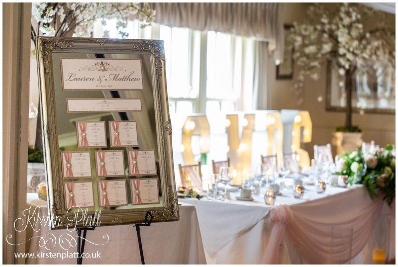 wedding table plan and room
