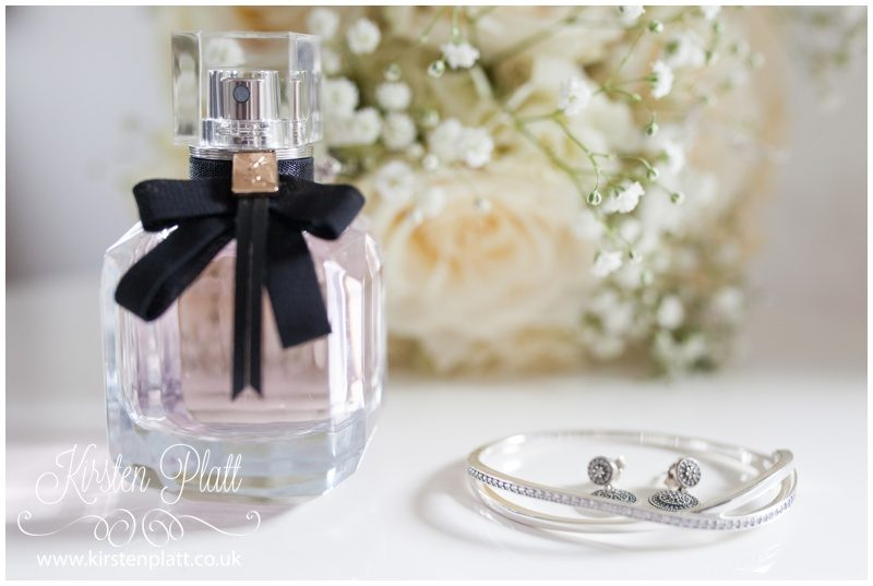 wedding details perfume and flowers