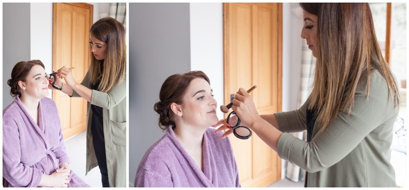 makeup artist doing bridal makeup