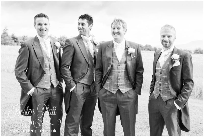 Groom and three Bestmen