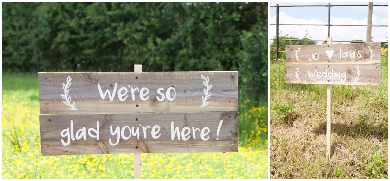 Rustic Wedding signs - so glad you are here