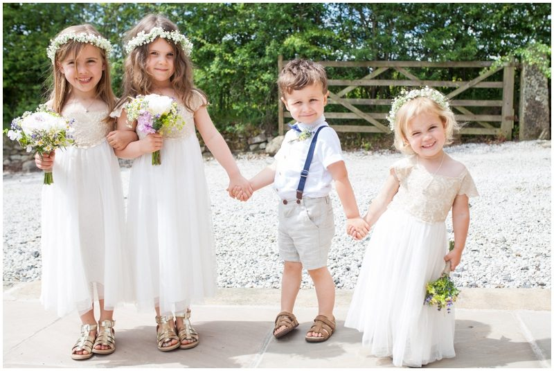 flower girls and pageboy