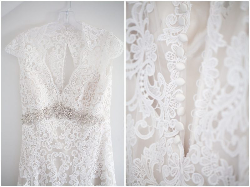 front and back of wedding dress