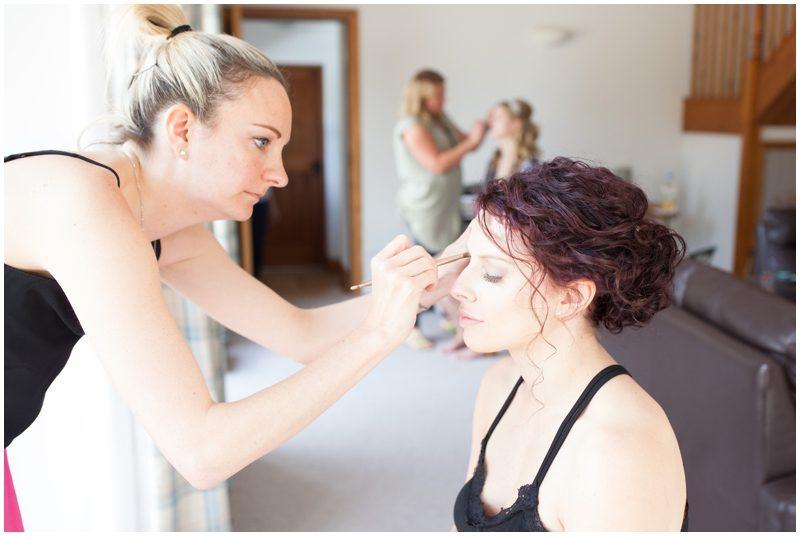 bridal makeup time