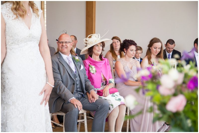 Wedding guests watching the ceremony