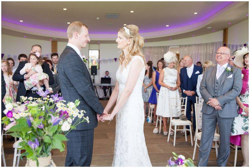 Bride and groom say their vows