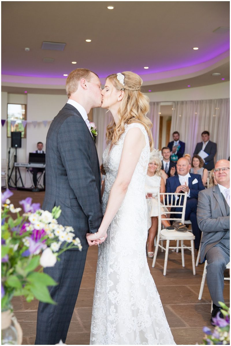 First Kiss as Mr and Mrs