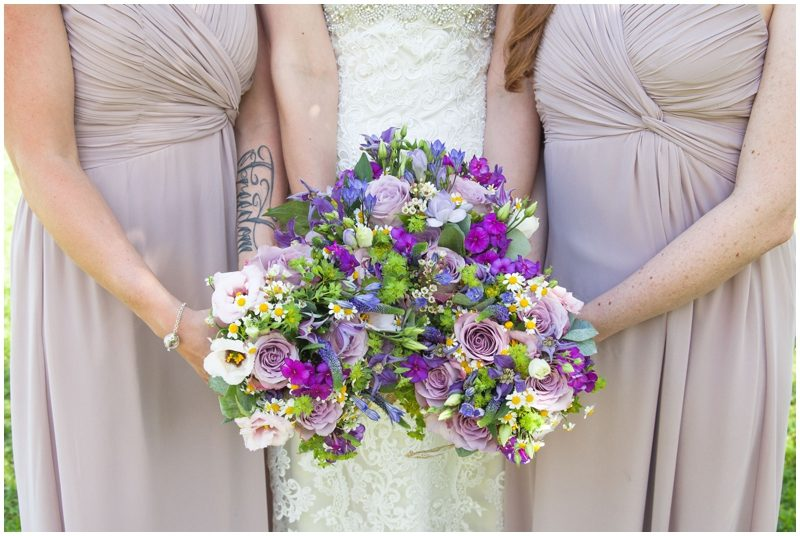 Wedding flowers pinks and purples