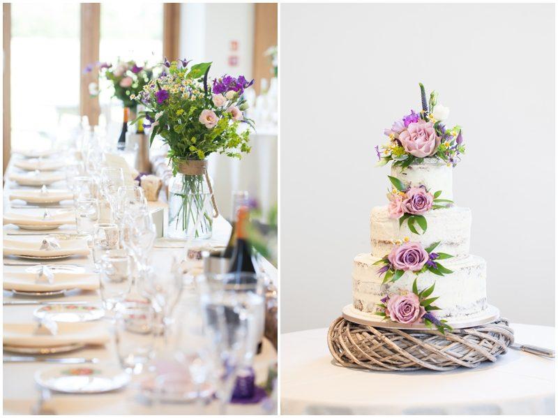 Wedding table and wedding cake