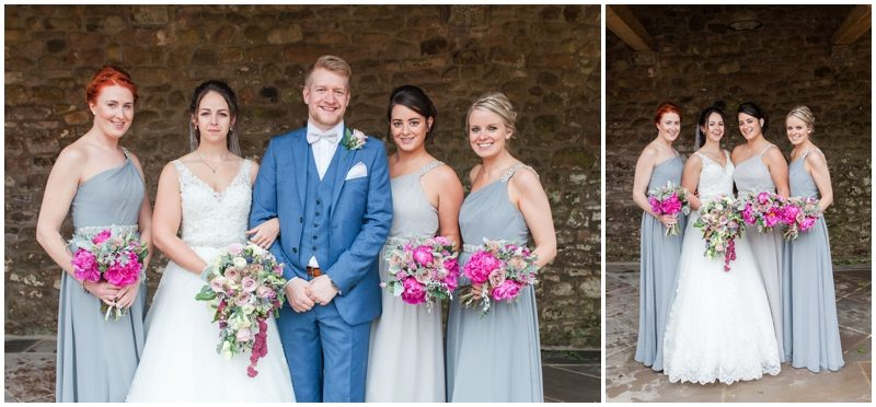 Bride Groom and bridesmaids