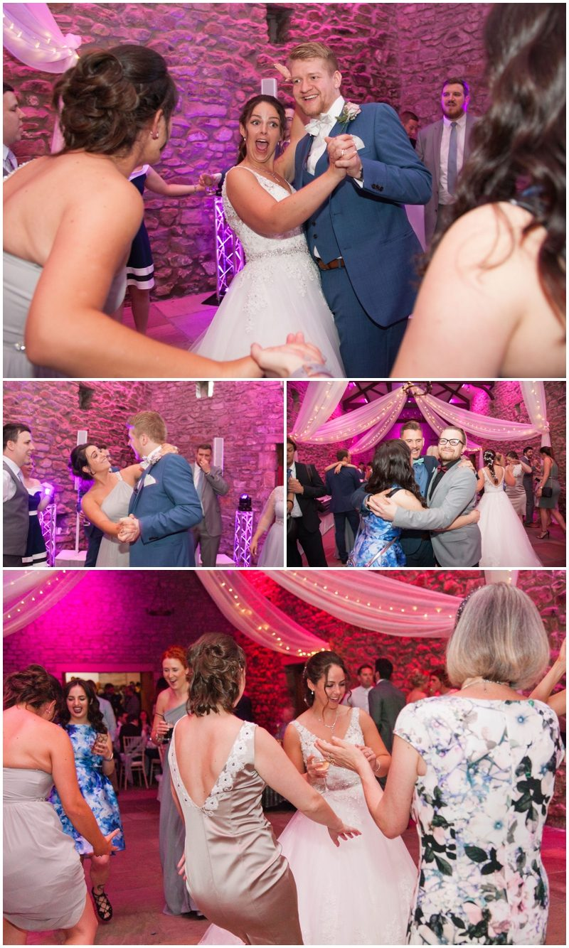 bride groom and guests having fun