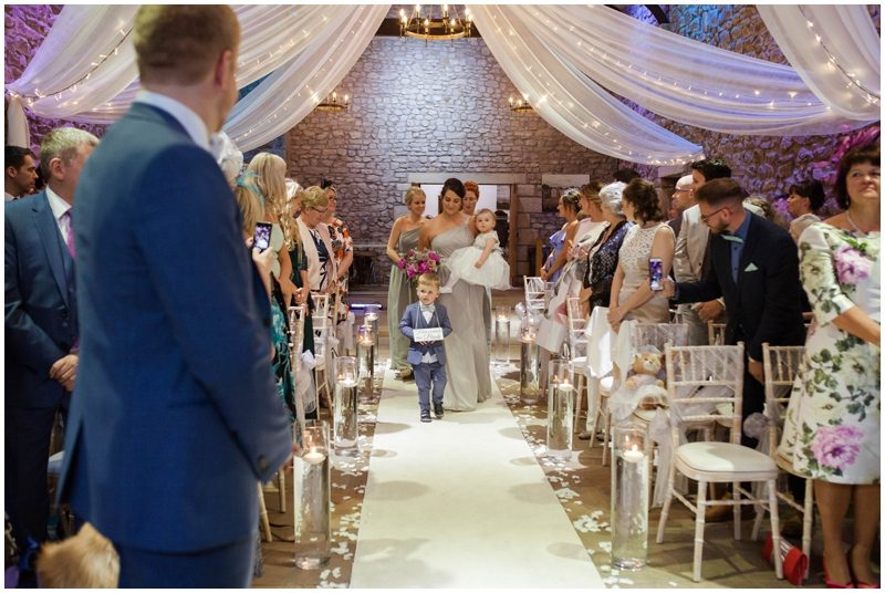 Pageboy walked down the isle