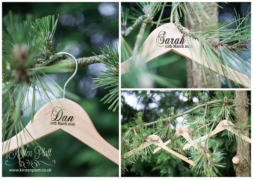 Bespoke and Oak personalised coat hangers
