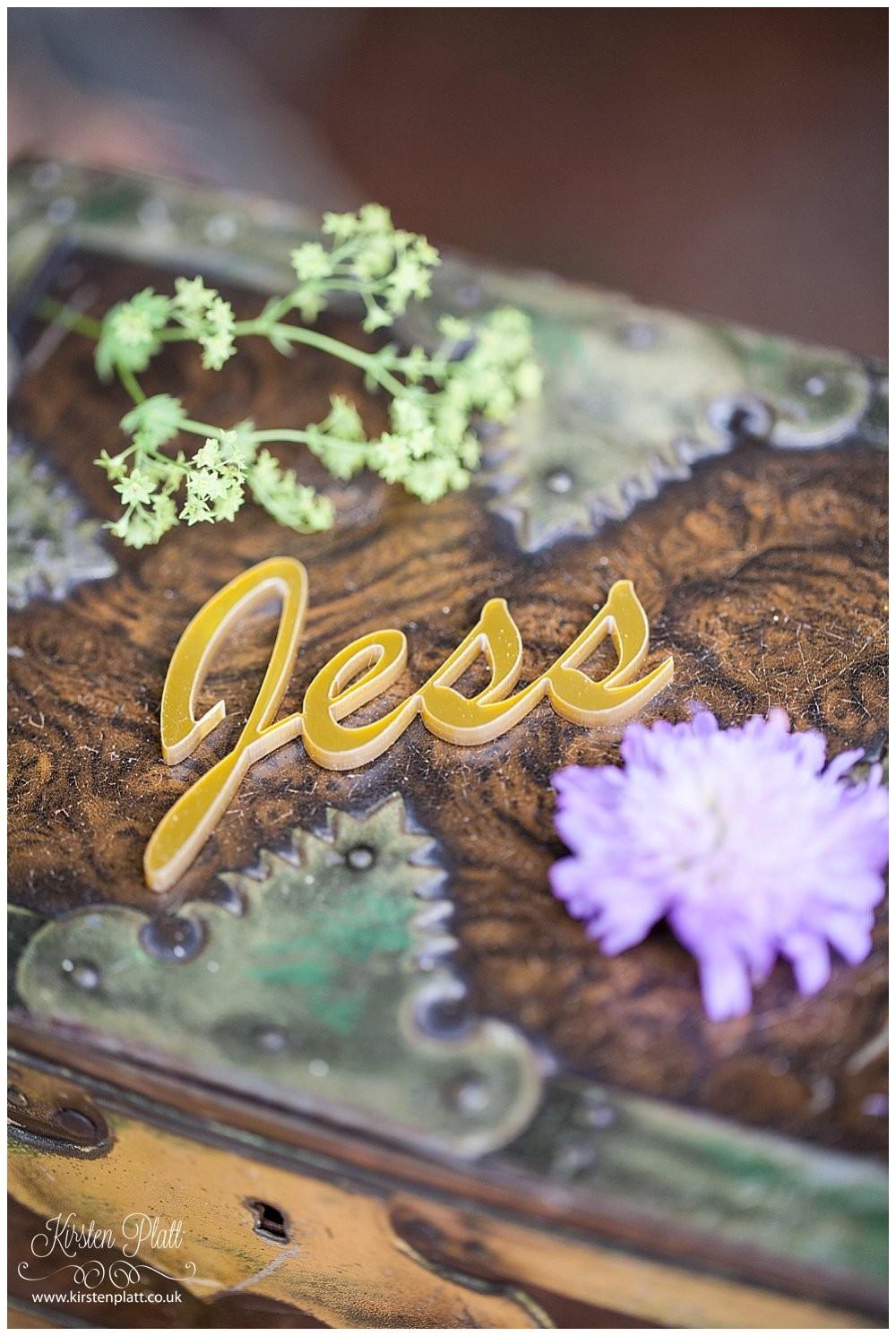 Bespoke and Oak Co Personalised wedding place settings