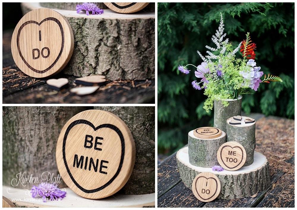 Bespoke and oak wooden love heart