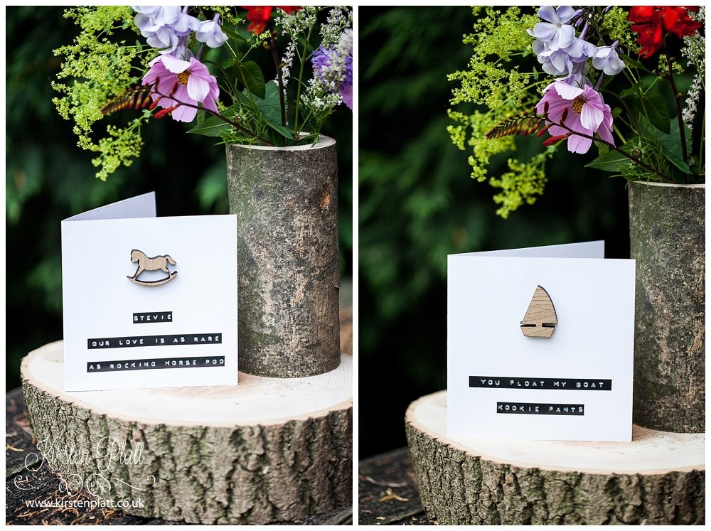 Personalised cards with magnet gift from Bespoke and Oak Co